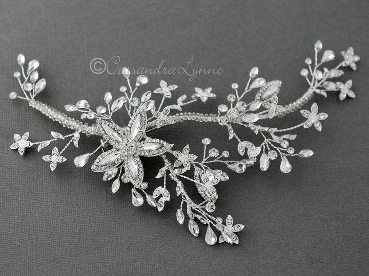 Tmx Silver Marquise Flower Clip 51 356710 158731303646167 Kansas City wedding dress