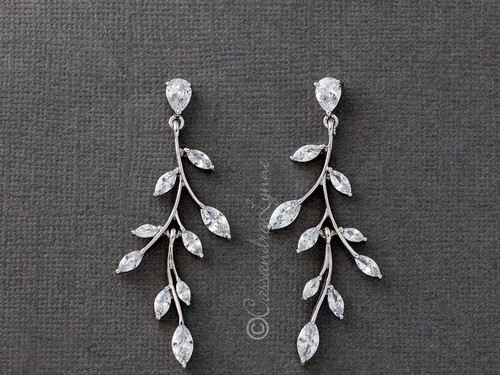 Tmx Vine Bridal Earrings Cubic Zirconia 51 356710 158731303768623 Kansas City wedding dress