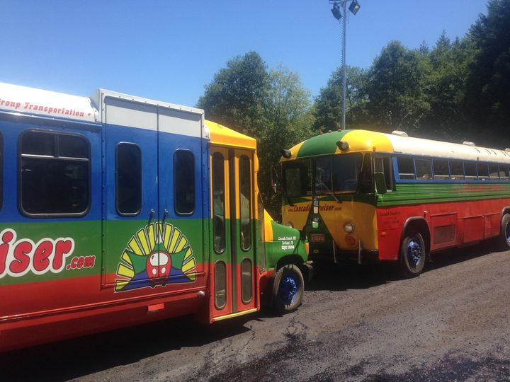 We have two buses (soon three) to choose from depending on the size of your group or party.