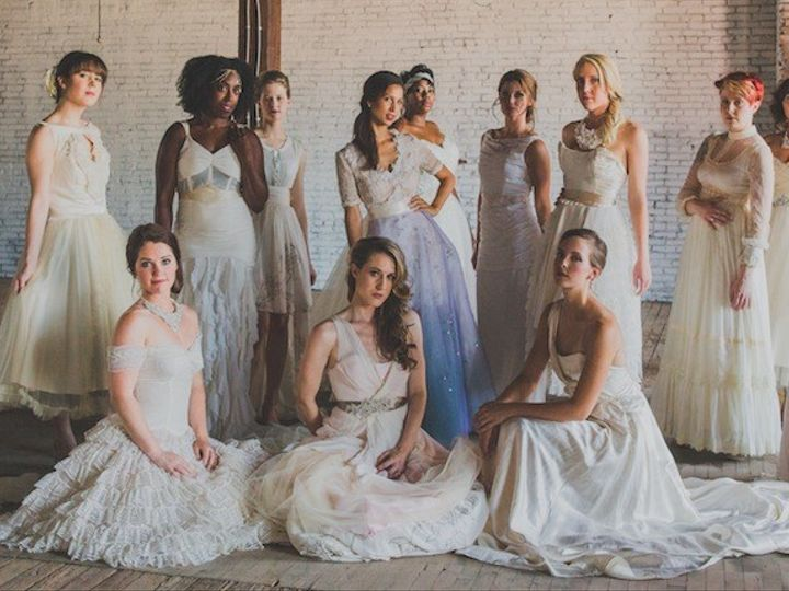Tmx 1415850159799 Group Shot Janay A Bella Patina Crop Mission, Missouri wedding dress