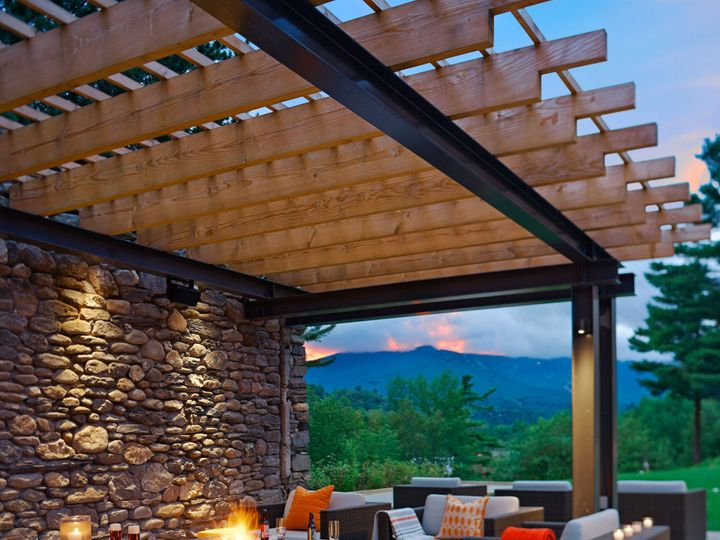 Tmx 1416349900411 The Roost Firepit At Topnotch Resort Stowe, Vermont wedding venue