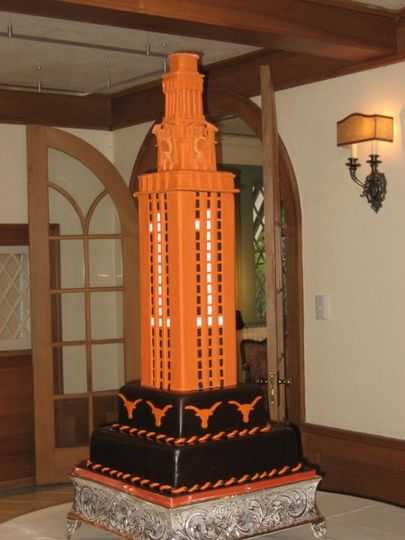 Orange tower cake