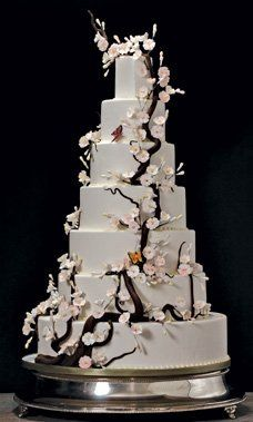 7-tier floral wedding cake