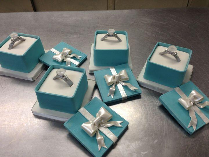 Ring box cakes