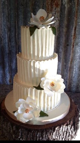 3-tier buttercream wedding cake
