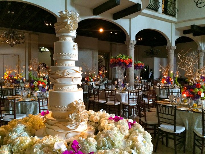Tall wedding cakes, ruffle wedding cake,