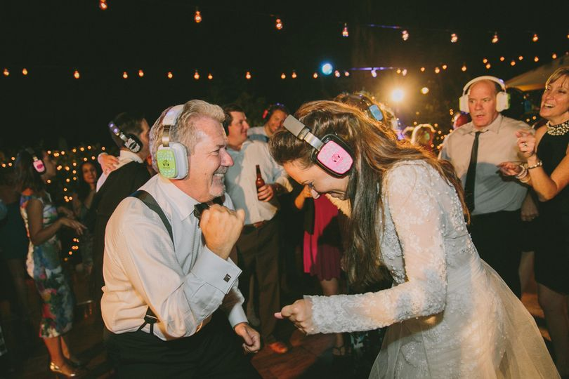 Partying newlyweds