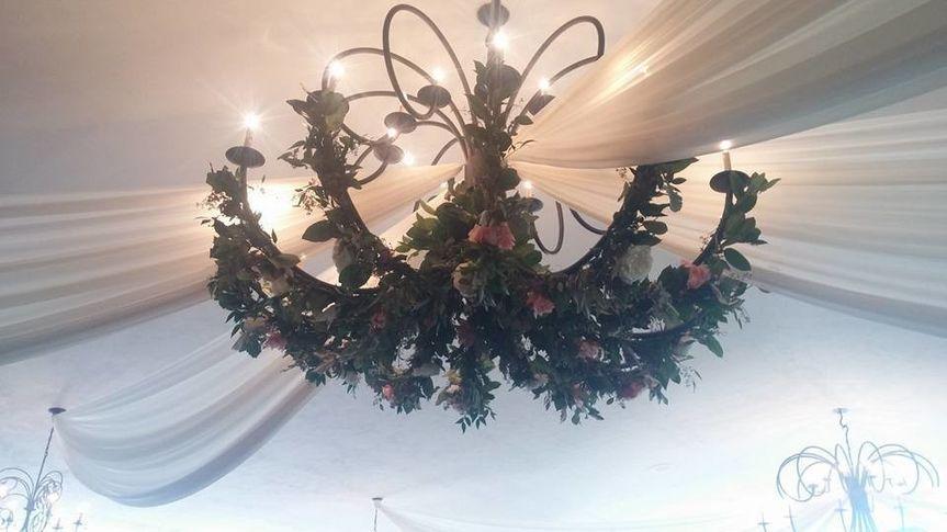 Flowers in the chandelier
