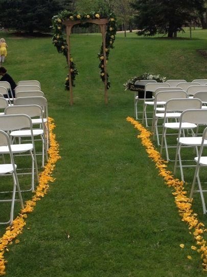Wedding aisle area