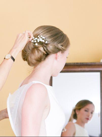 virginia wedding hair stylist