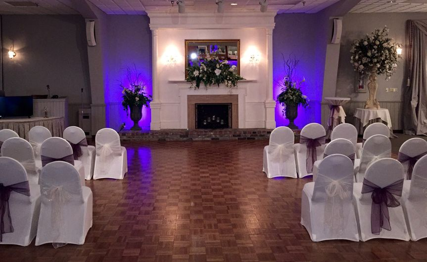 ceremony at fire place