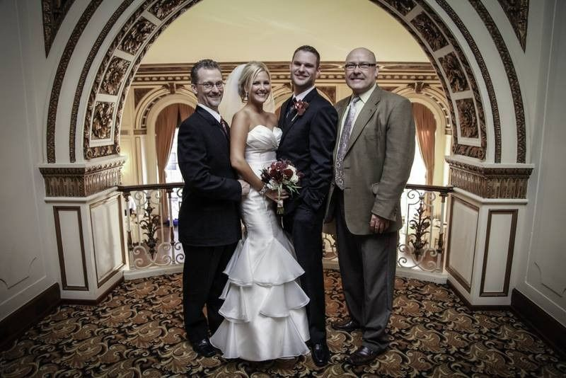 The ceremony and reception was at the beautiful Colony Club in downtown Detroit.  She a radiant...