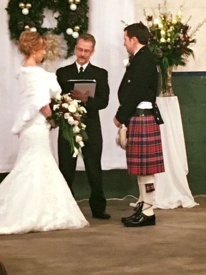 It was January , but the hearts were warm.  His Scottish heritage was evident with the kilt and she...