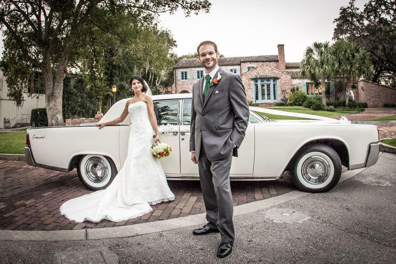 The only 1961 Lincoln Continental available in the Central Florida area. Make your wedding elegant...