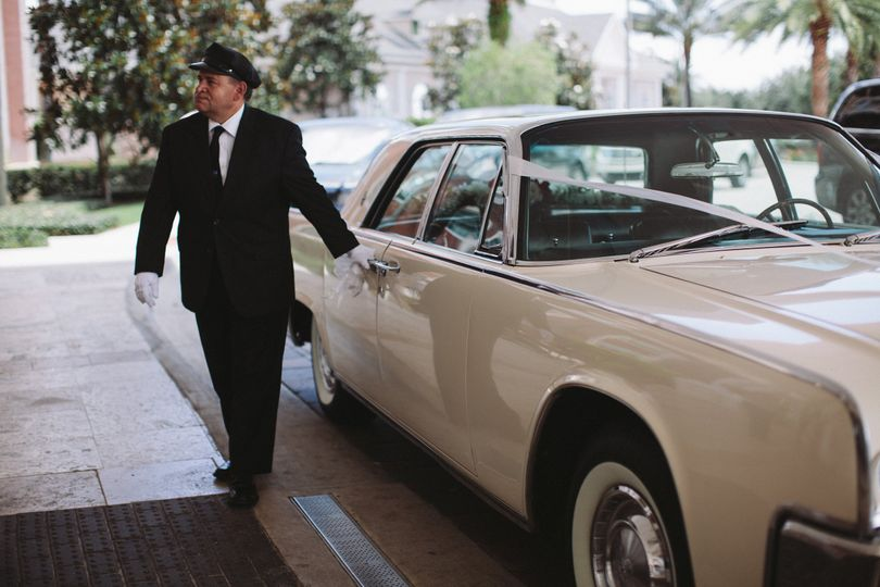Let one of our professional chauffeurs pamper you on the most important day of your life. White...