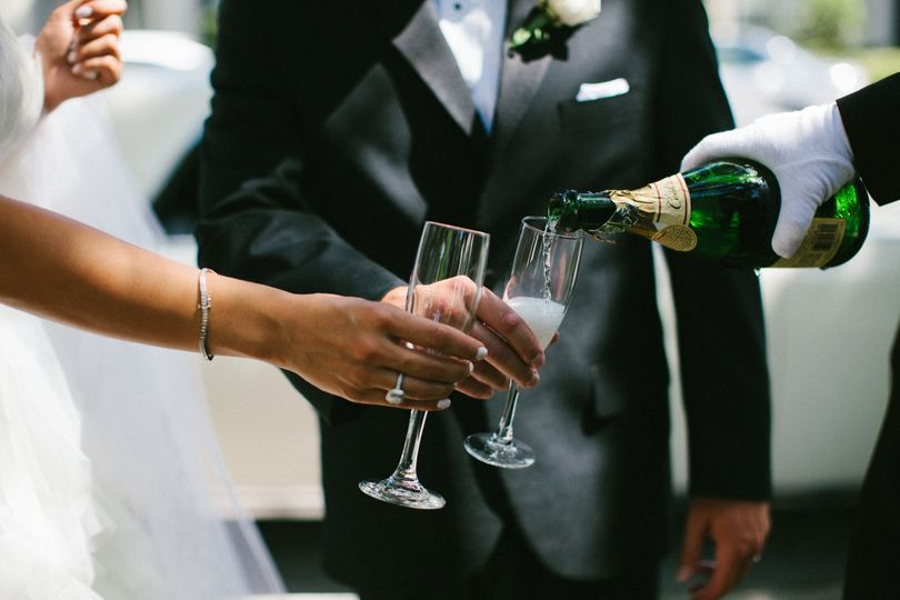 """Champagne toast exiting the ceremony or """"Getaway"""" at the end of the night. This service is included..."""