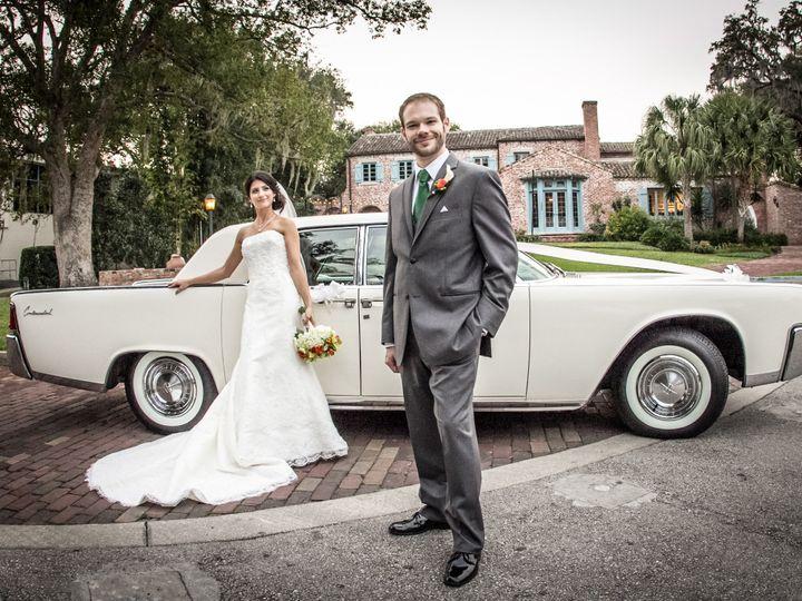 Tmx 1386801251891 Bride And Groom At Casa Feliz With Continenta Orlando wedding transportation