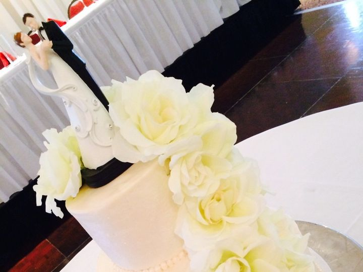 Tmx 1425495361072 Pearl Shimmer Kimmswick wedding cake