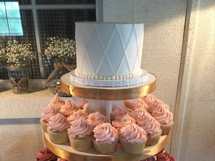 Tmx 1468510086106 2016 Ombre Cupcake Tower Kimmswick wedding cake