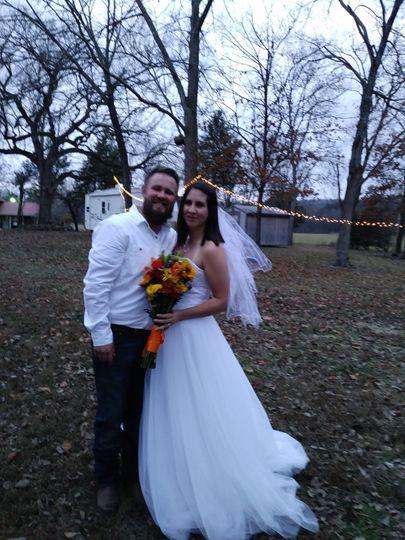 Home wedding, Forsythe, MO