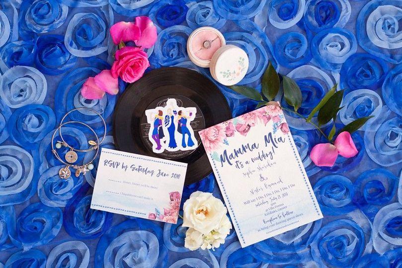 Mamma Mia themed wedding in El Lago, TexasVenue: Waters Edge Planner: Who's That Girl? Weddings and...