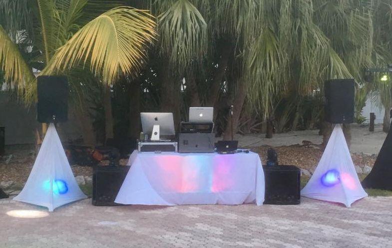 Outdoor DJ setup