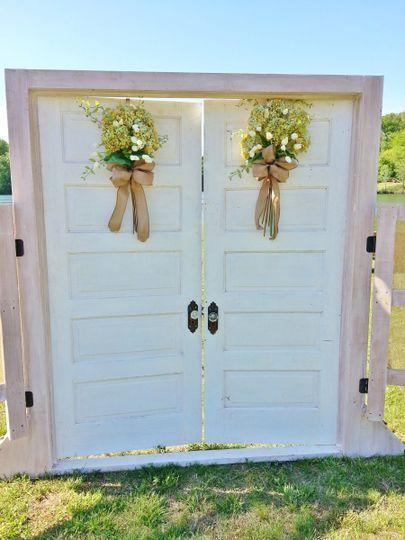 Wedding door design