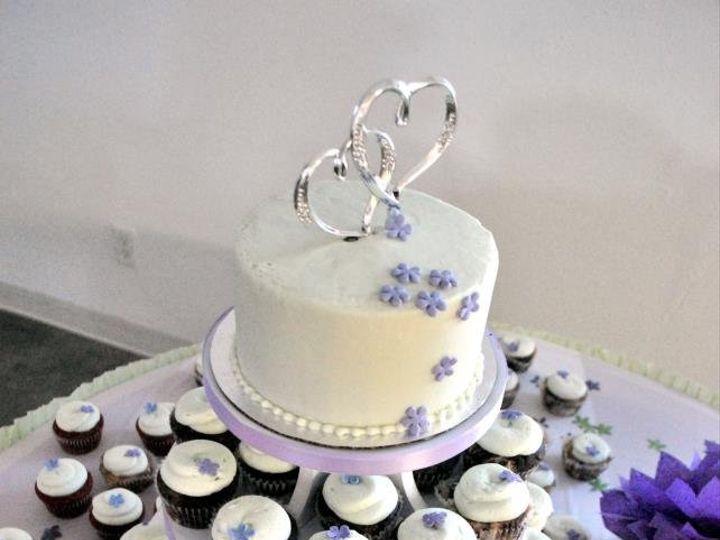 Tmx 1340834714672 Cupcaketowerpurpleandgreen Great Falls, Montana wedding cake