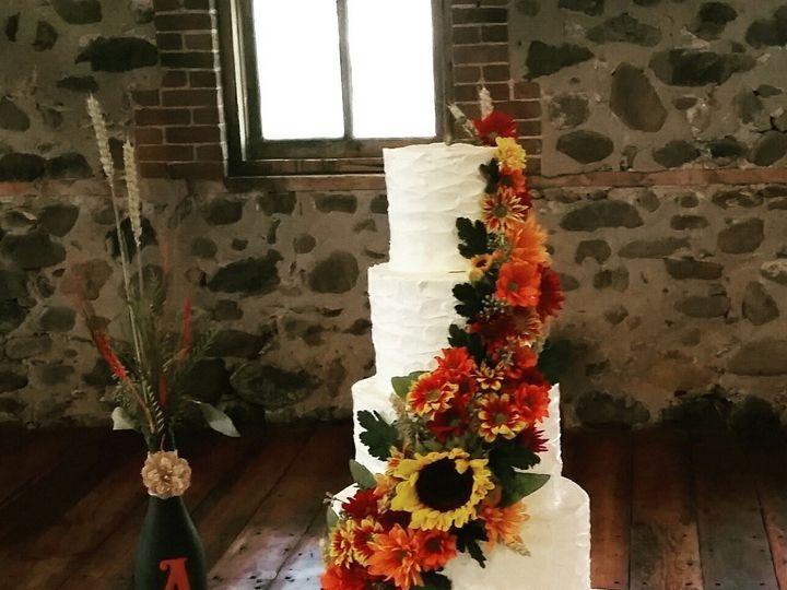 Tmx 1478026389150 5 Tier Wedding Cake Fall Flowers Cascading Great Falls, Montana wedding cake