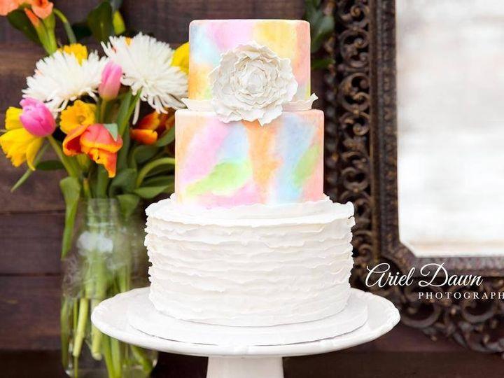 Tmx 1478026584091 Watercolor Wedding Cake Great Falls, Montana wedding cake