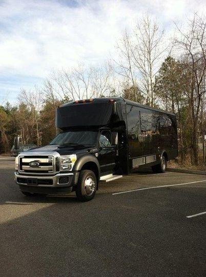 26-passenger limousine bus