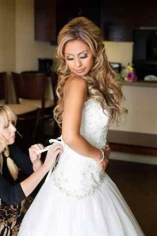 Carlsbad Wedding Hair and Makeup.  Airbrush Makeup, Hair extensions, Secret Salon