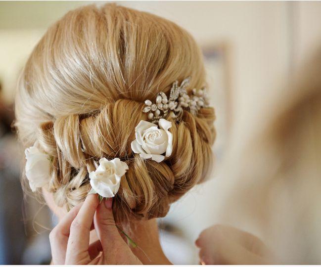 Wedding Updo, Carlsbad Wedding Hair and Makeup