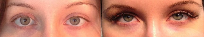 Before and After of Xtreme Lashes eyelash extensions