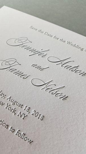 Letterpress print detail