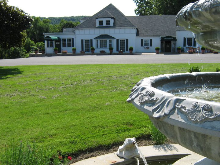The fountain in our front yard.