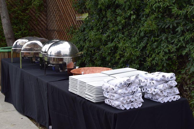 Buffet-style banquet