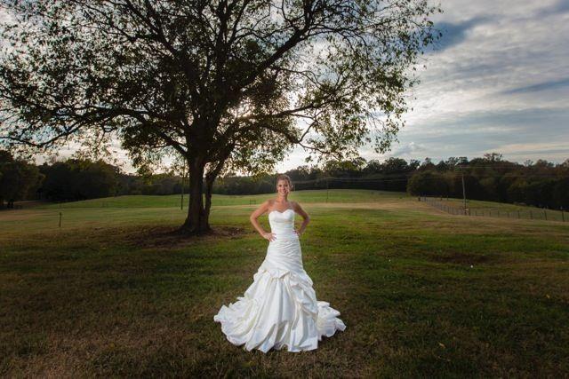 Bride in an open field