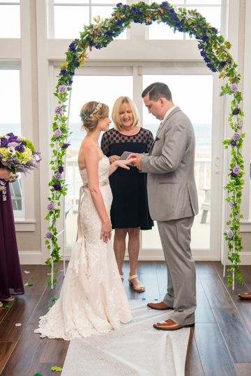 Oceanfront home Ceremony