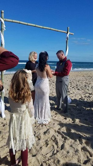 Fall Wedding on the Beach