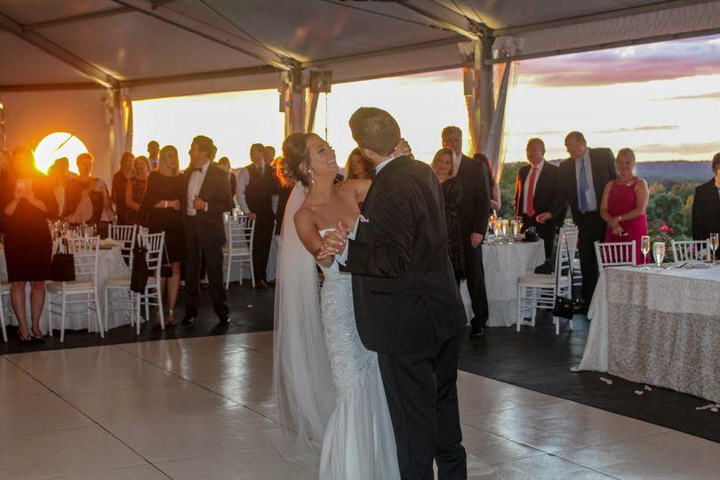 First Dance Sunset Wedding