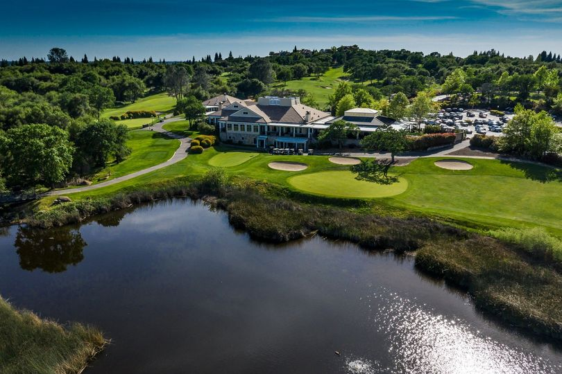 Aerial view of the golf club