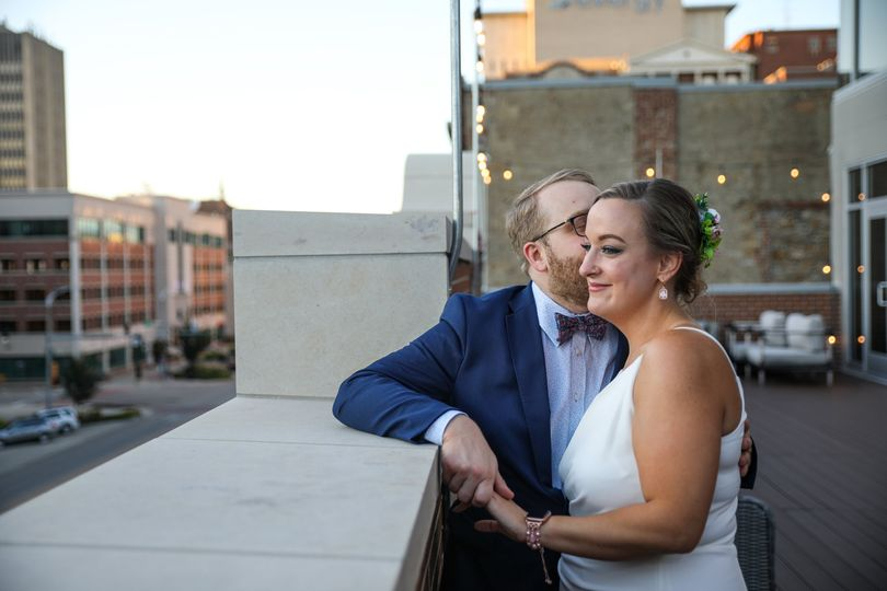 City rooftop micro wedding