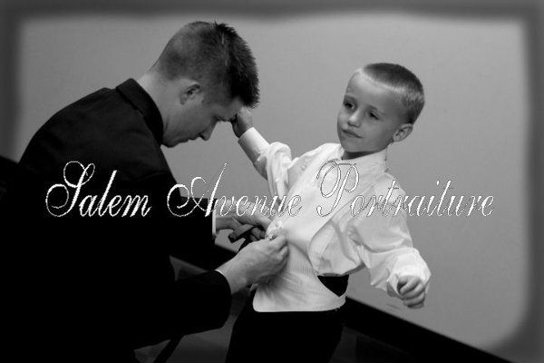 Joe and son getting prepared for the big event.