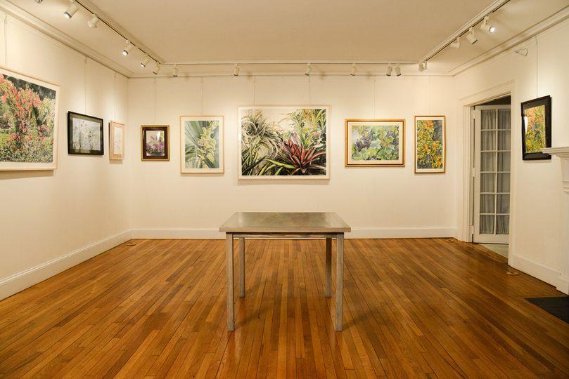 Indoor art gallery