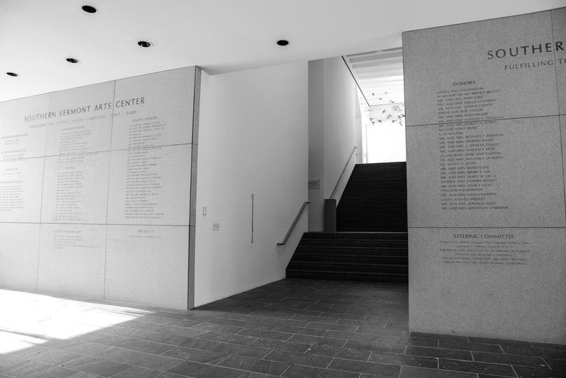 Southern vermont arts center donor wall