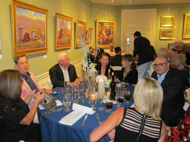 Indoor reception at gallery
