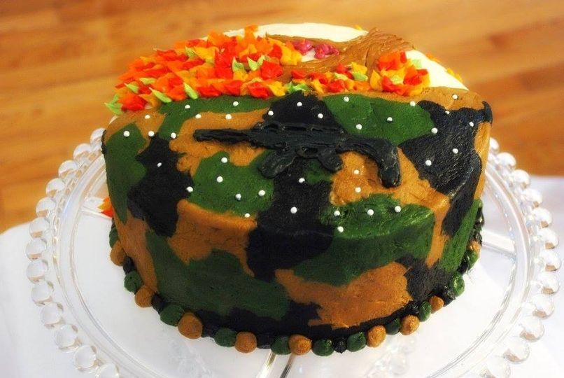 Gluten Free Airsoft Birthday/ Fall Anniversary Cake