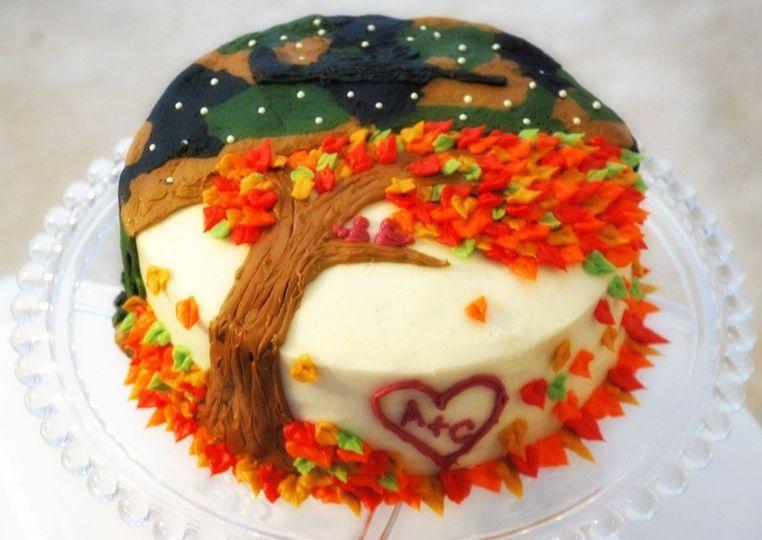 Gluten Free Fall Anniversary/ Airsoft Birthday Cake