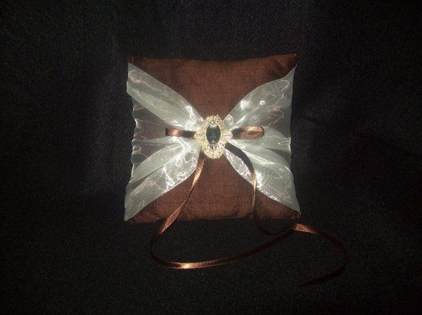 Tmx 1271187546473 ChocolateIvorypillow Seattle wedding dress